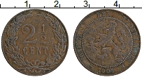 Изображение Монеты Нидерланды 2 1/2 цента 1904 Бронза VF