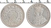 Изображение Монеты Британская Индия 1 рупия 1915 Серебро XF