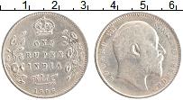Изображение Монеты Британская Индия 1 рупия 1906 Серебро XF