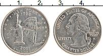 Изображение Монеты США 1/4 доллара 2001 Медно-никель UNC