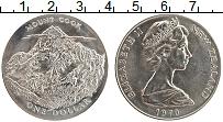 Изображение Монеты Новая Зеландия 1 доллар 1970 Медно-никель XF Елизавета II. Гора К