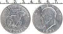 Изображение Монеты США 1 доллар 1971 Медно-никель UNC- Дуайт Эйзенхауэр