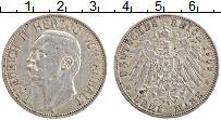 Продать Монеты Анхальт 3 марки 1909 Серебро