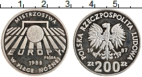 Изображение Монеты Польша 200 злотых 1987 Серебро Proof- Чемпионат мира по фу
