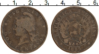 Изображение Монеты Аргентина 2 сентаво 1885 Бронза VF