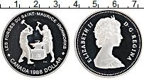 Изображение Монеты Канада 1 доллар 1988 Серебро Proof