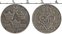 Изображение Монеты Швеция 2 эре 1942 Железо XF Густав V