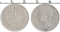 Изображение Монеты Бельгия 1 франк 1912 Серебро VF Альберт I