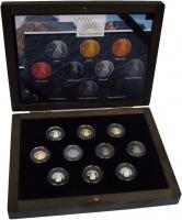 Изображение Подарочные монеты Гана Антилопа Штейнбок 2018 Серебро Proof Набор из десяти моне