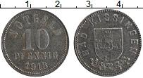 Изображение Монеты Германия : Нотгельды 10 пфеннигов 1918 Железо XF Бад-Киссинген