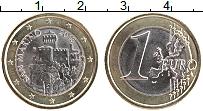 Изображение Монеты Сан-Марино 1 евро 2018 Биметалл UNC Башня Честа