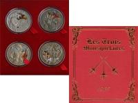 Изображение Подарочные монеты Беларусь Три мушкетёра 2009 Серебро Proof