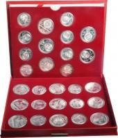Изображение Подарочные монеты СССР Летние Олимпийские игры в Москве 1980 1980 Серебро UNC Подарочный набор пос