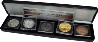 Изображение Подарочные монеты Гибралтар Королева Гибралтара 2014 Серебро UNC