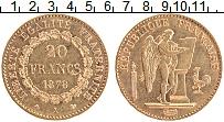 Изображение Монеты Франция 20 франков 1878 Золото XF