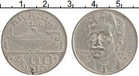 Изображение Монеты Бразилия 400 рейс 1938 Медно-никель XF- Освальдо Крус
