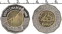 Изображение Монеты Хорватия 25 кун 1998 Биметалл UNC-