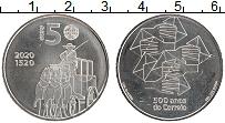 Изображение Мелочь Португалия 5 евро 2020 Медно-никель UNC 500 лет Почтовой слу