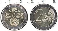 Изображение Мелочь Португалия 2 евро 2020 Биметалл UNC 75-летие ООН