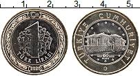 Изображение Мелочь Турция 1 лира 2020 Биметалл UNC 100 лет Национальном