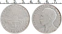 Изображение Монеты Куба 1 песо 1953 Серебро VF 100-летие Хосе Марти