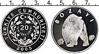 Изображение Монеты Турция 20 лир 2005 Серебро Proof