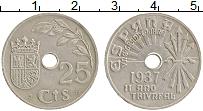 Изображение Монеты Испания 25 сентаво 1937 Медно-никель XF