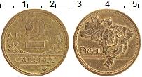 Изображение Монеты Бразилия 2 крузейро 1949 Латунь XF