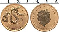 Изображение Монеты Австралия 1 доллар 2013 Латунь UNC Елизавета II. Год Зм