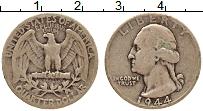 Изображение Монеты США 1/4 доллара 1944 Серебро XF- Джордж Вашингтон