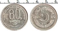 Изображение Монеты Пакистан 20 рупий 2011 Медно-никель UNC- 60-летие пакистано-к