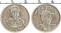 Изображение Монеты Свазиленд 1 лилангени 2005 Латунь UNC- Королева Дзеливе Шон