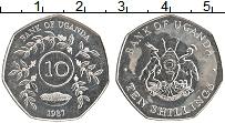 Изображение Монеты Уганда 10 шиллингов 1987 Медно-никель UNC-