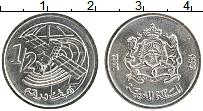 Изображение Монеты Марокко 1/2 дирхама 2002 Медно-никель UNC-