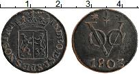 Изображение Монеты Нидерландская Индия 1 дьюит 1803 Медь XF Гелдерланд
