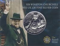 Изображение Подарочные монеты Великобритания 20 фунтов 2015 Серебро BUNC