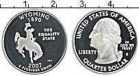 Изображение Монеты США 1/4 доллара 2007 Серебро Proof- S. Дж.Вашингтон. Шта
