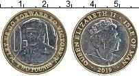 Изображение Монеты Остров Мэн 2 фунта 2019 Биметалл UNC Елизавета II. Норман