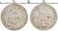 Изображение Монеты Индокитай 10 центов 1937 Серебро XF Французский