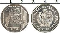 Изображение Монеты Перу 1 соль 2018 Медно-никель UNC Вымирающая дикая при