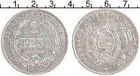 Изображение Монеты Уругвай 1 песо 1895 Серебро XF Герб