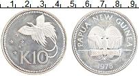 Изображение Монеты Папуа-Новая Гвинея 10 кин 1978 Серебро Proof- Птица