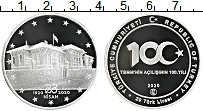 Изображение Монеты Турция 20 лир 2019 Серебро Proof 100 лет Великому нац
