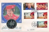 Изображение Подарочные монеты Фолклендские острова 50 пенсов 1992 Медно-никель UNC