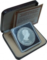 Изображение Подарочные монеты Багамские острова 10 долларов 1978 Серебро Proof-