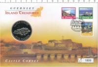 Изображение Подарочные монеты Гернси 5 фунтов 1997 Медно-никель UNC