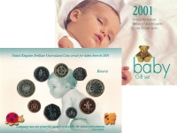 Изображение Подарочные монеты Великобритания Годовой набор 2001 2001  UNC