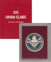 Изображение Подарочные монеты Каймановы острова 5 долларов 1974 Серебро Proof