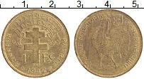 Изображение Монеты Французская Экваториальная Африка 1 франк 1942 Латунь XF+