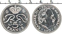 Изображение Монеты Монако 5 франков 1979 Медно-никель UNC- Райнер III